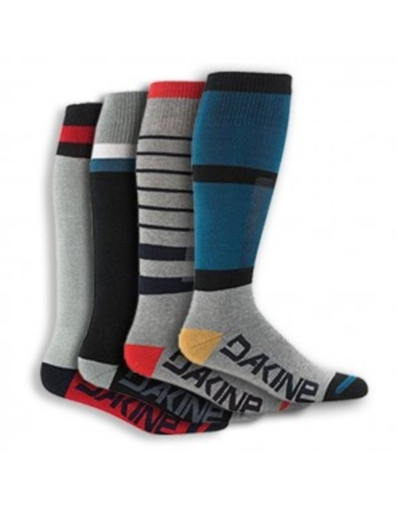 Dakine Mens Freeride Socks Assorted, Set of 4 Socks