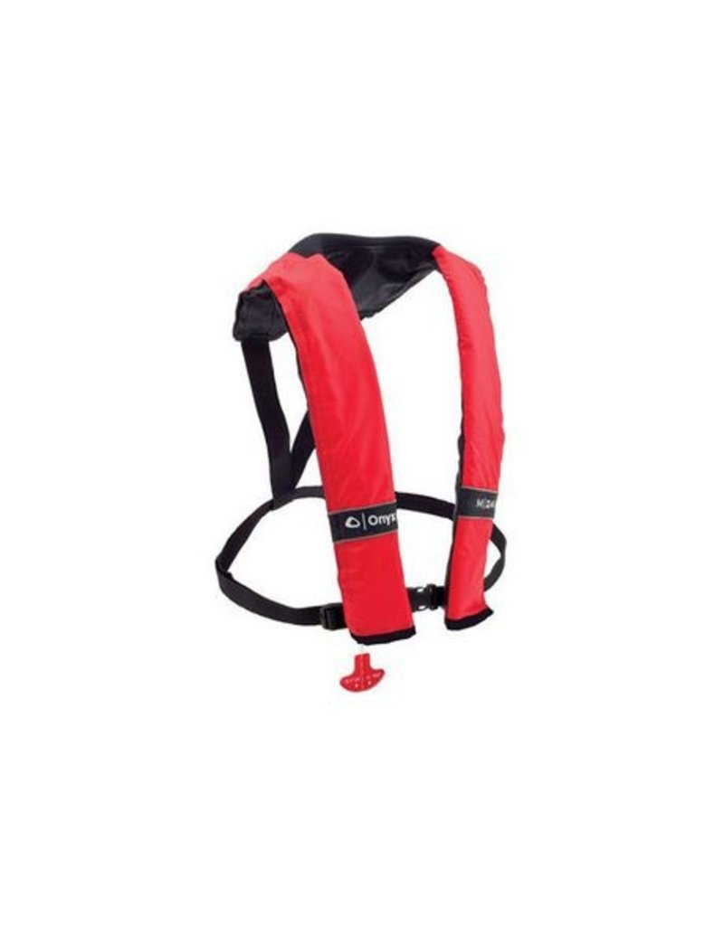 Onyx Onyx M-24 Manual Inflatable Life Jacket - Red