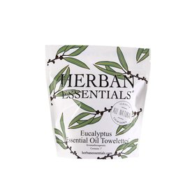 Herban Essentials 7 Individually Wrapped Eucalyptus Towelettes