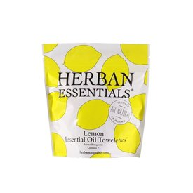 Herban Essentials 7  Individually Wrapped Lemon Towelettes