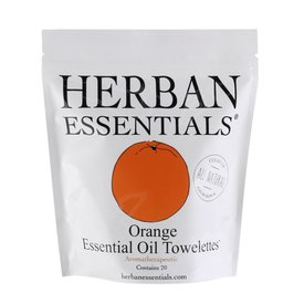 Herban Essentials 20 Individually Wrapped Orange Towelettes