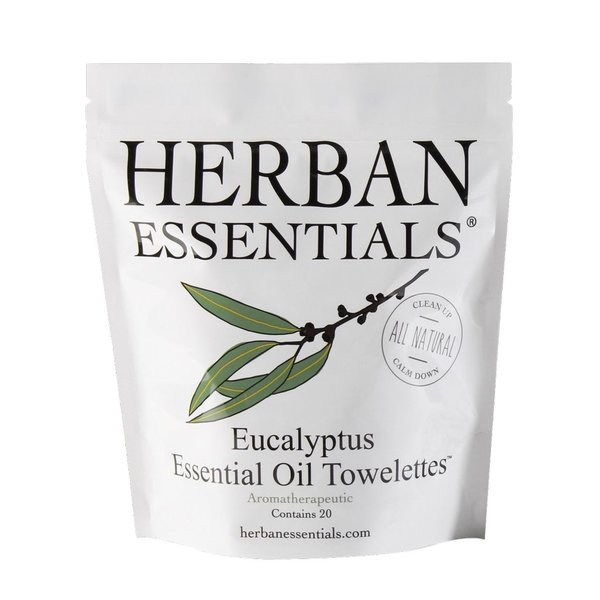 Herban Essentials 20 Individually Wrapped Eucalyptus Towelettes