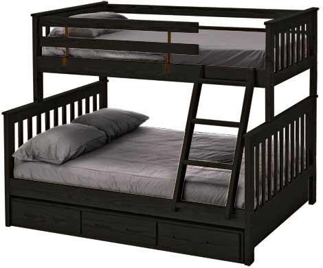 e4706 lit superpos simple double expresso meubles d co d p t. Black Bedroom Furniture Sets. Home Design Ideas