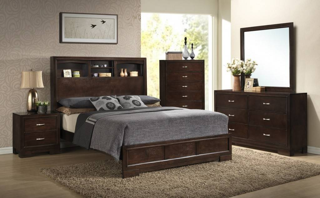 Gl2831 Misor King Bedroom Set Light Espresso