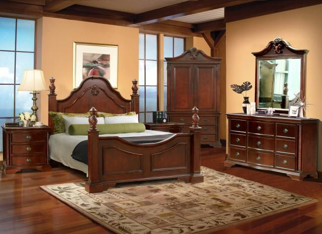 B31 Queen Bedroom Set  Dark Cherry