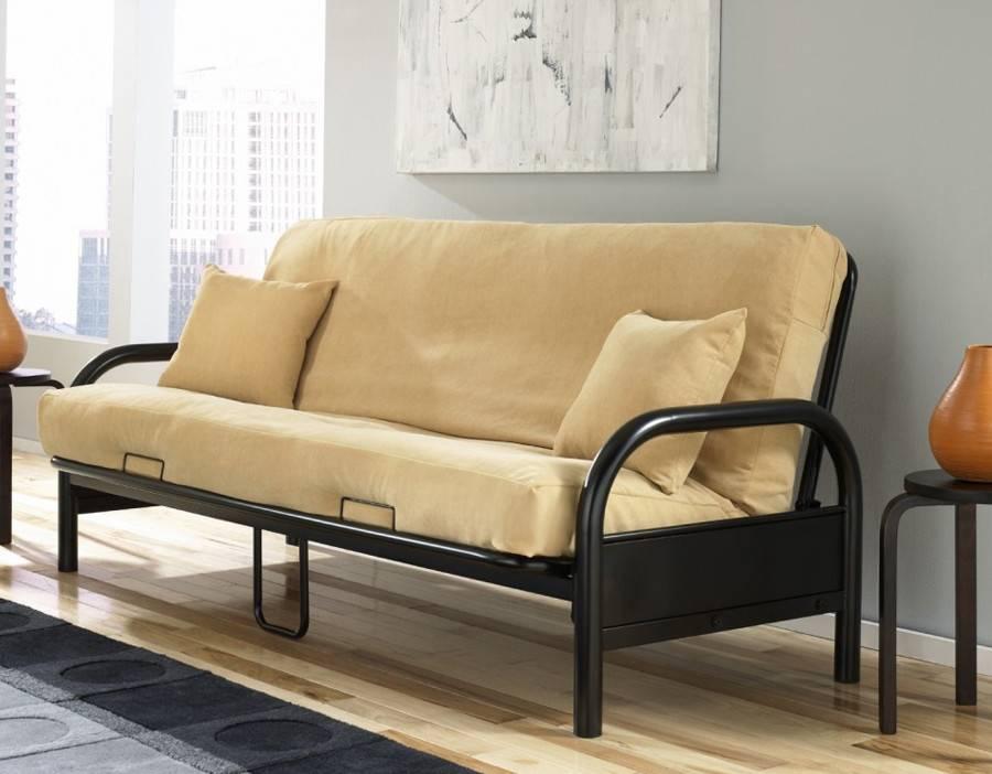 T-1600 Futon Frame -Black - Furniture Deco Depot