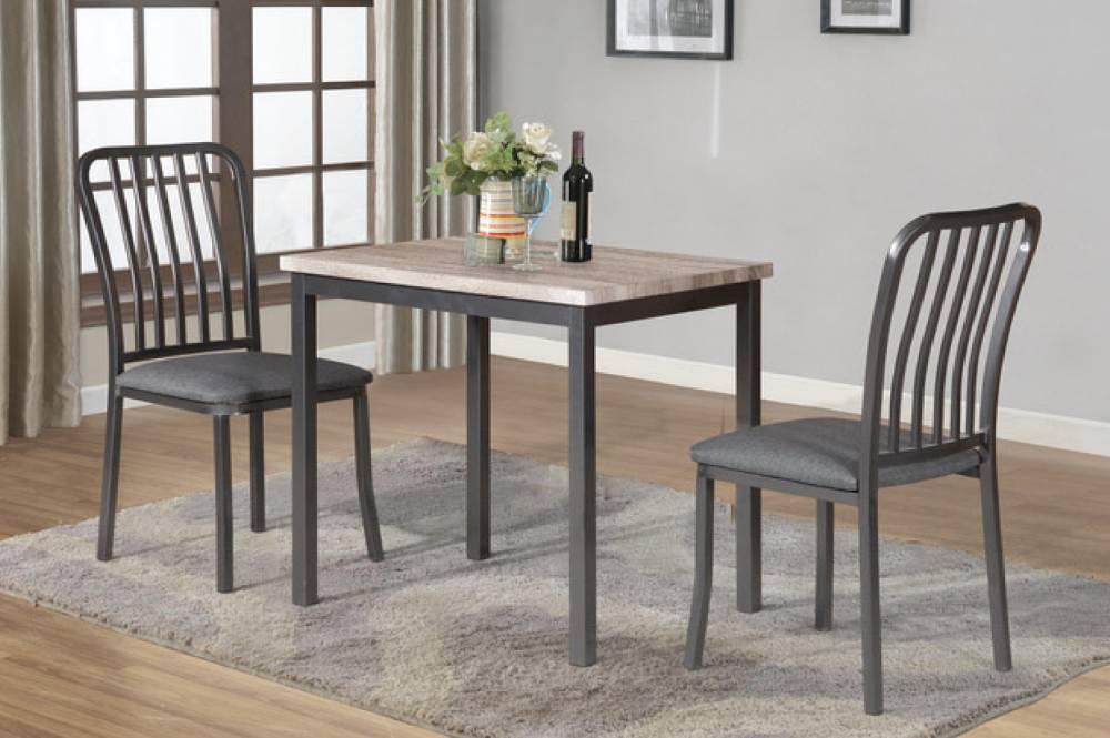 T 3720 ensemble 3mcx salle manger gris meubles d co for Ensemble salle a manger gris