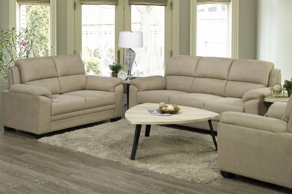 T l love seat taupe furniture deco depot