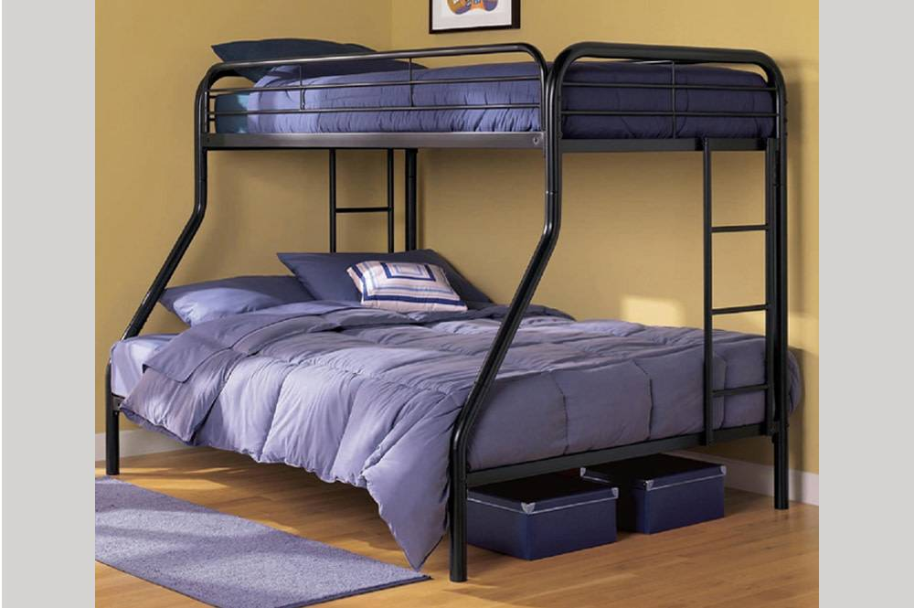 T 2820b Twin Full Size Bunk Bed Black Furniture Deco Depot