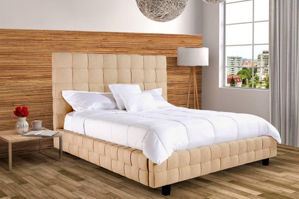 r 186db lit et t te de lit double meubles d co d p t. Black Bedroom Furniture Sets. Home Design Ideas