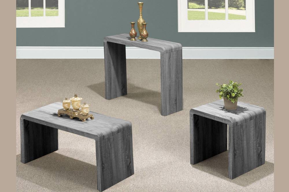 t 5021g s table de salon grise meubles d co d p t. Black Bedroom Furniture Sets. Home Design Ideas