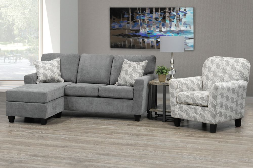 T 1236 Sofa Sectional  Grey