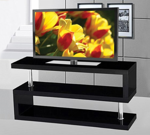 If 5015 b meuble tv noir brillant meubles d co d p t - Meuble tv noir brillant ...