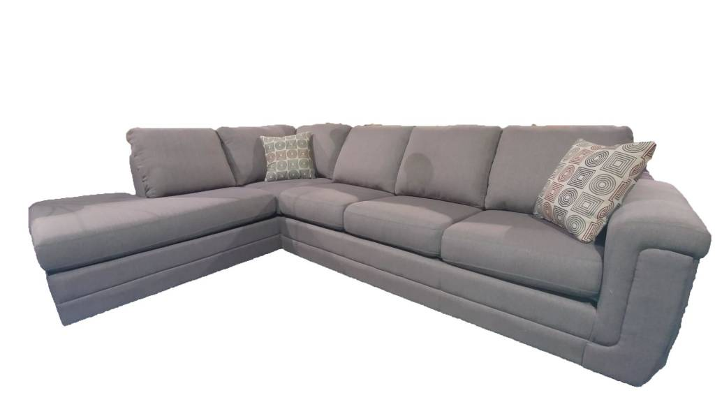 Leon sofa sectional taupe furniture deco depot