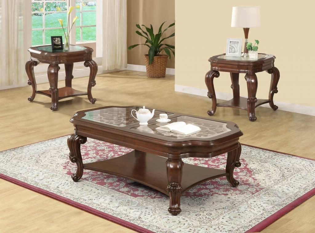 Coffee Table Set Cherry