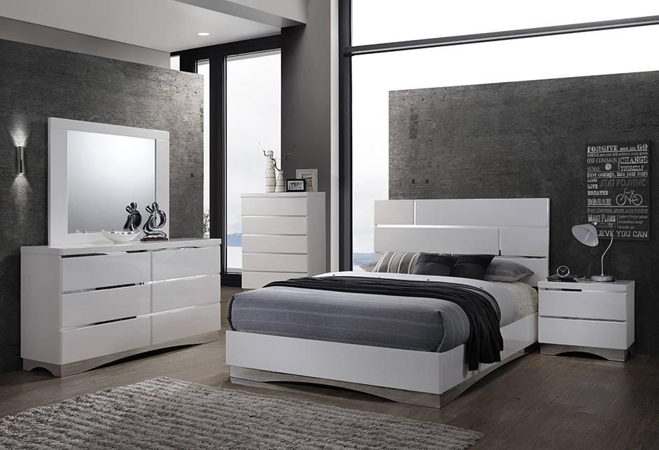 gl2934 stanton mobilier de chambre queen blanc meubles