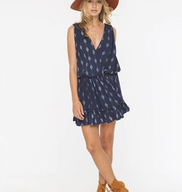 INDAH INDAH - Balmy Printed Halter Mini Dress