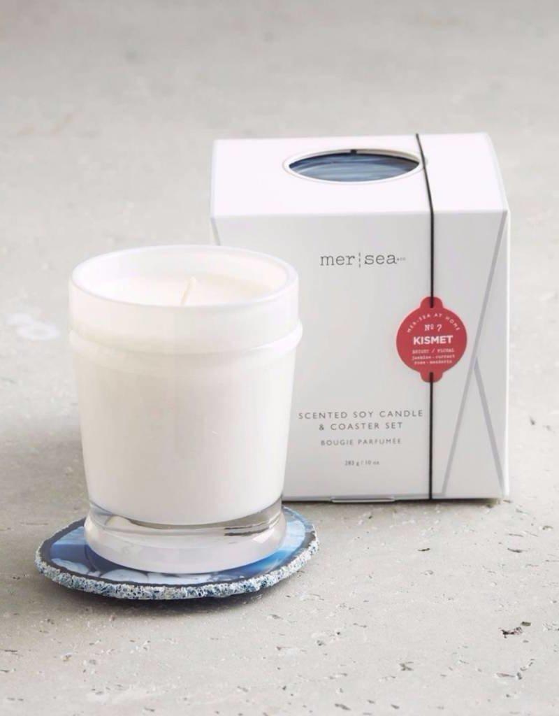 Mer-Sea & Co. Mer-Sea & Co. - Kismet Boxed Candle & Agate Coaster