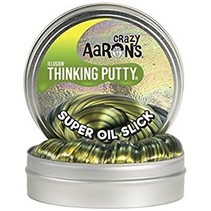 "Crazy Aaron's Thinking Putty (2"" tin) Super Oil Slick"