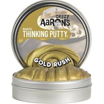 "Crazy Aaron's Thinking Putty (4"" tin) Gold Rush"