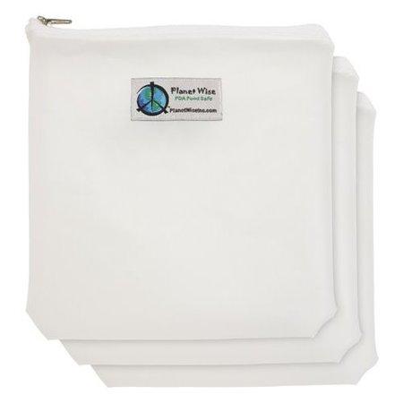 Planetwise Clear Zipper Bag Quart 3-Pack