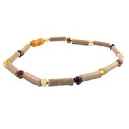 "The Amber Monkey Baltic Amber and Hazelwood Necklace (10-11"")"