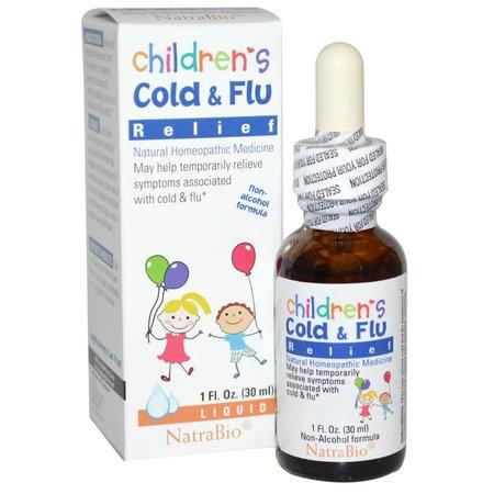 NatraBio Children's Cold & Flu Relief