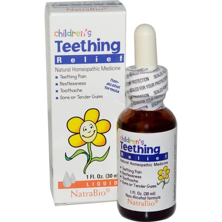 NatraBio Children's Teething, Liquid, Unflavored 1oz