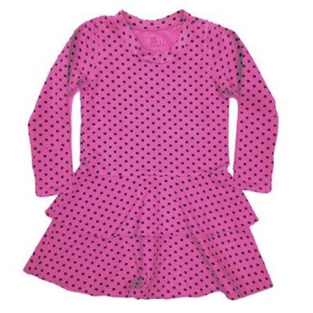 Nano Black Dot Tier Dress