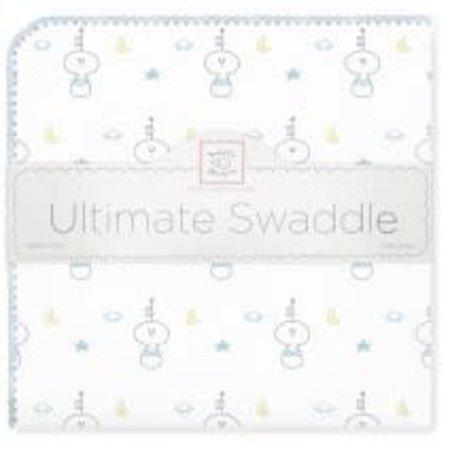 Swaddle Designs Ultimate Swaddle Blanket Spaceman Pastel Blue