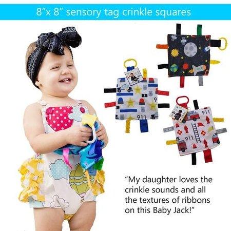 "Baby Jack & Co Baby Jack Crinkle Tag Lovey 8"" x 8"""