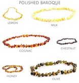 """The Amber Monkey Baltic Amber Teething Necklace (10-11"""")"""