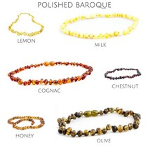 "Baltic Amber Teething Necklace (10-11"")"