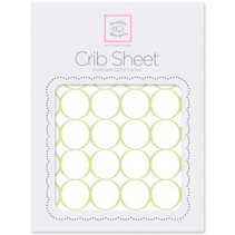 Cotton Flannel Crib Sheet Mod Circles on White