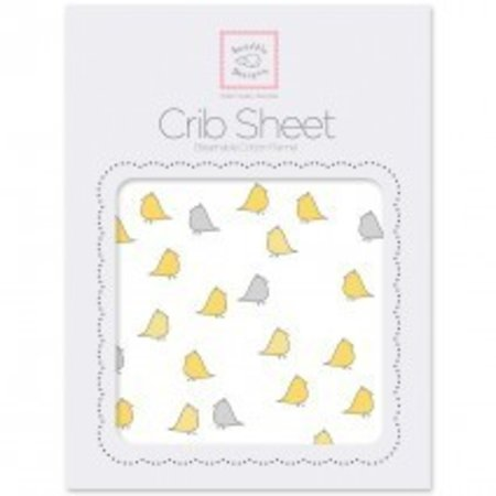 Swaddle Designs Cotton Flannel Crib Sheet Little Chickies