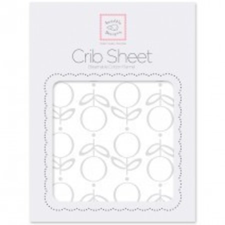 Swaddle Designs Cotton Flannel Crib Sheet Lolli Fleur