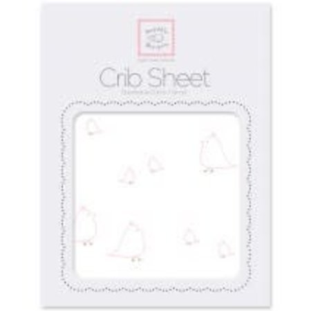 Swaddle Designs Cotton Flannel Crib Sheet Mamma and Baby Chickies