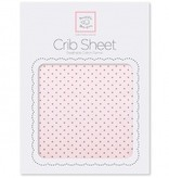 Swaddle Designs Cotton Flannel Crib Sheet Pastel with Brown Polka Dots