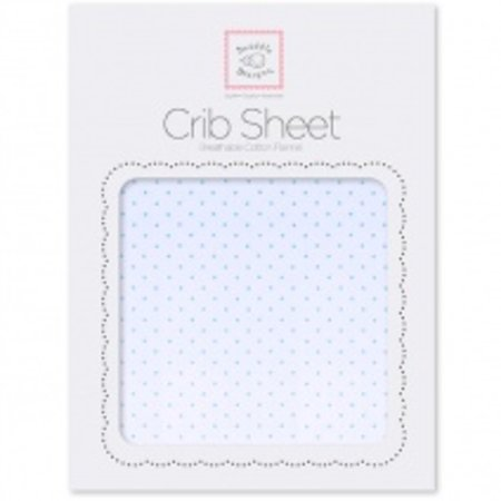 Swaddle Designs Cotton Flannel Crib Sheet Pastel with Pastel Polka Dots