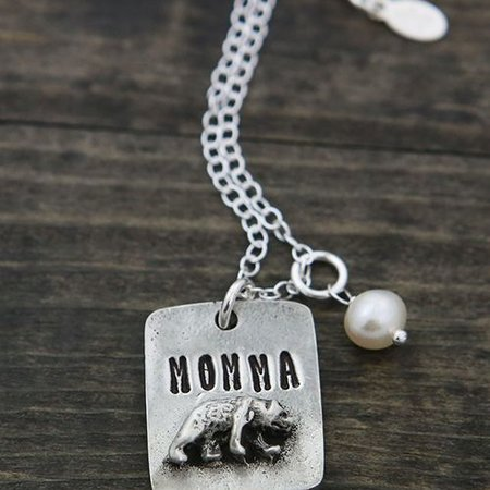 The Vintage Pearl Momma Bear Necklace by The Vintage Pearl