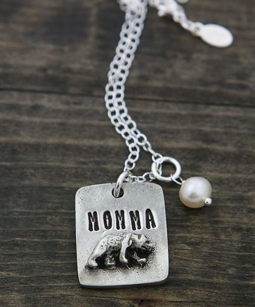 Momma bear necklace the vintage pearl mother earth mother the vintage pearl momma bear necklace by the vintage pearl aloadofball Image collections