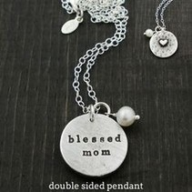 Secret Message Pendant- Blessed Mom