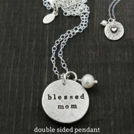 The Vintage Pearl Secret Message Pendant- Blessed Mom by The Vintage Pearl