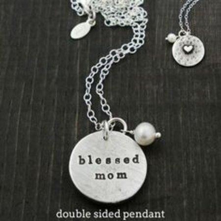 The Vintage Pearl Secret Message Pendant- Blessed Mom
