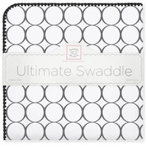 Ultimate Swaddle Blanket Mod Circles on White