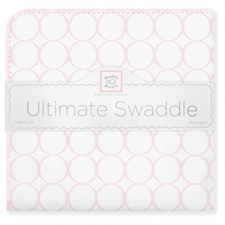 Swaddle Designs Ultimate Swaddle Blanket Mod Circles on White