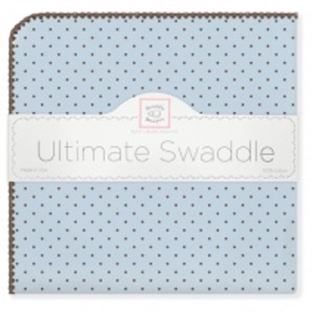 Swaddle Designs Ultimate Swaddle Blanket Pastel with Brown Polka Dots