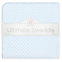 Ultimate Swaddle Blanket Pastel with Pastel Polka Dots and Trim Pastel