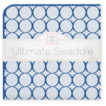 Swaddle Designs Ultimate Swaddle Blanket Pastel with Jewel Tone Mod Circles