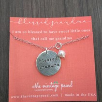 Secret Message Pendant- Blessed Grandma